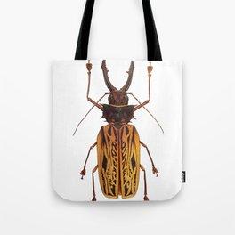 Macrodontia Cervicornis Sabertooth Beetle Tote Bag