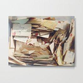 Forgotten Letters Metal Print
