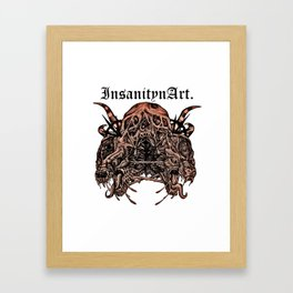 InsanitynArt's Death, As Beautiful as a Hole in the Head edited Illustration. Framed Art Print
