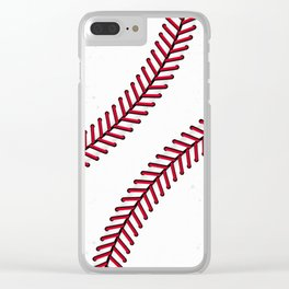 Fantasy Baseball Super Fan Home Run Clear iPhone Case
