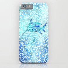 Swirly Shark Slim Case iPhone 6s