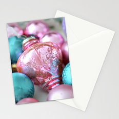 Sparkling Cottage Dreamy Holiday Vintage Ornaments Pink Aqua Prints Home Decor Stationery Cards