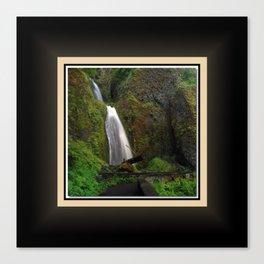Wahkeena Falls East View, Oregon Series 1 of 2 Canvas Print
