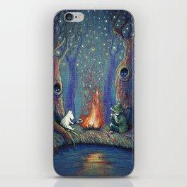 Moomin's night iPhone Skin