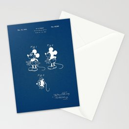 Mickey Mouse blue Patent Stationery Cards