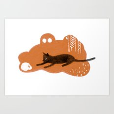 Cat's Dream Art Print