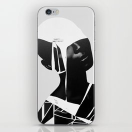 abstract portrait iPhone Skin