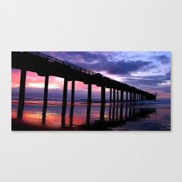 Scripps Pier (wide) Canvas Print