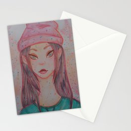asian girl Stationery Cards