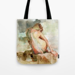 Watercolour Figure Tote Bag