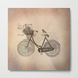 Antique Bicycle Metal Print