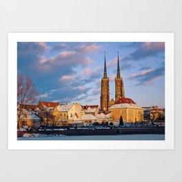 Wrocław Cathedral Art Print