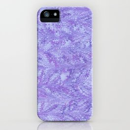 Purple Sea, Combed Marbling Pattern iPhone Case
