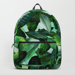Banana palm leaf tropical jungle green Backpack