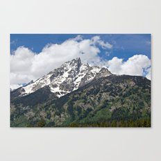 Grand Tetons Peak and Clouds Canvas Print