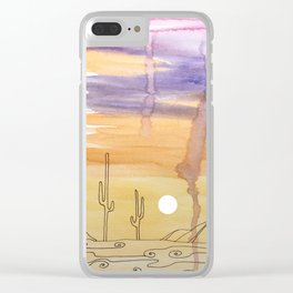 Painted Desert 6 Clear iPhone Case