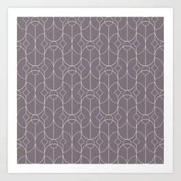 Contemporary Bowed Symmetry in Aubergine Art Print