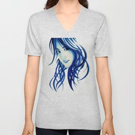 Abstract girl Unisex V-Neck