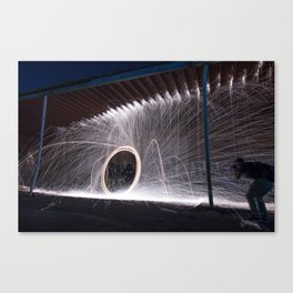 White Lightning Canvas Print