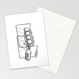 Newton's cradle Stationery Cards