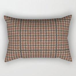 Vintage Brown Houndstooth Tweed  Rectangular Pillow