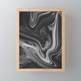 LAVA - BLACK Framed Mini Art Print