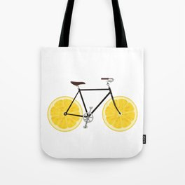 Lemon Bike Tote Bag