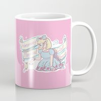 magical girl Mugs featuring Honorary Magical Girl Mascot by Erith