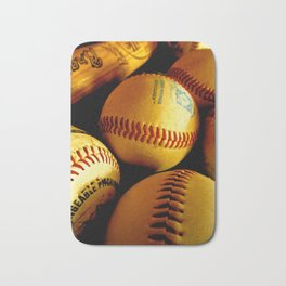 Baseball Days Bath Mat