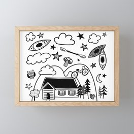 Vive le chalet - Life at the cottage Framed Mini Art Print