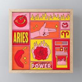 Aries Framed Mini Art Print