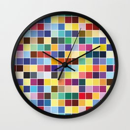 Pantone Color Palette - Pattern Wall Clock