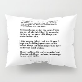 for what it's worth - fitzgerald quotes Pillow Sham