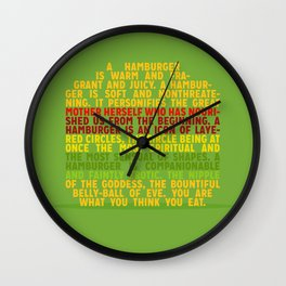 Your are what you think you eat Wall Clock