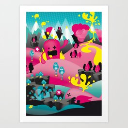 yellow event Art Print