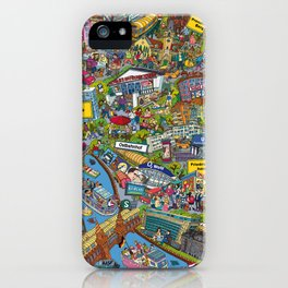 Illustrated map of Berlin iPhone Case