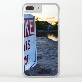 No Wake Zone Clear iPhone Case