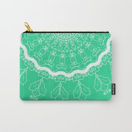 Green with Lace dreamcatcher design Carry-All Pouch