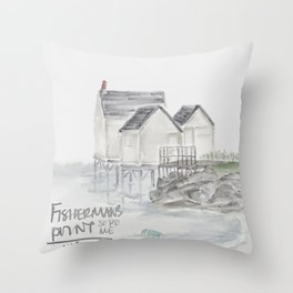 Fisherman's Point (South Portland, Maine) Throw Pillow