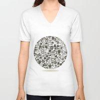 medicine V-neck T-shirts featuring Medicine a sphere by aleksander1