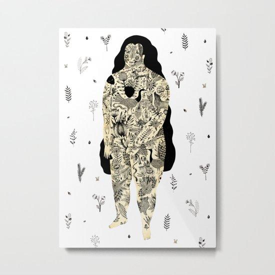 Inked Lady Metal Print
