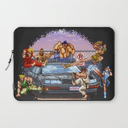 No Parking Violators will be Destroyed Laptop Sleeve