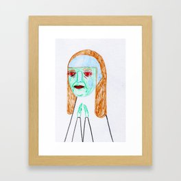 blue jay way.  Framed Art Print