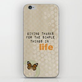 Giving Thanks iPhone Skin