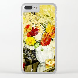 Flowers by Gerda Wegener - Vintage Painting Clear iPhone Case