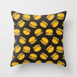 Burger Pattern  Everett co Throw Pillow