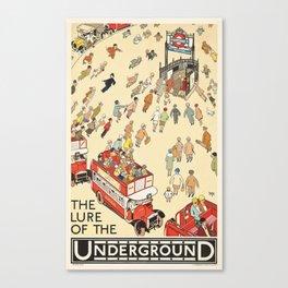 London Underground Vintage Canvas Print