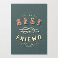 best friend Canvas Prints featuring Best Friend by Seaside Spirit