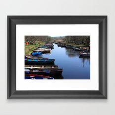 Fishing Boat Row Framed Art Print