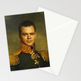 Matt Damon - replaceface Stationery Cards